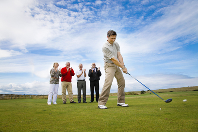 Golf Pro David Ames at Prestatyn Golf club
