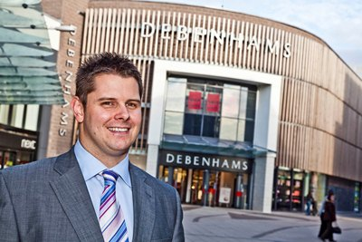 The new Debenhams manager at Eagles Meadow, Wrexham Rob Mannix