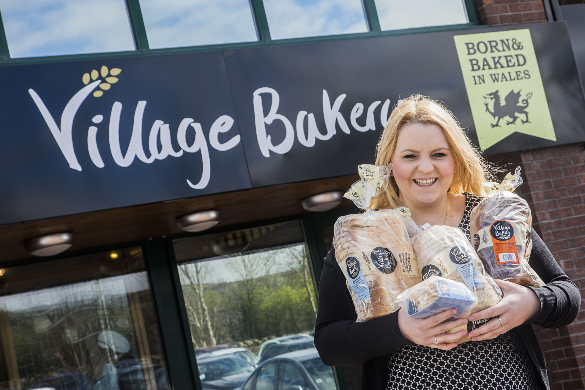 Catherine Bletcher from Village Bakery with Tesco-bound bread products